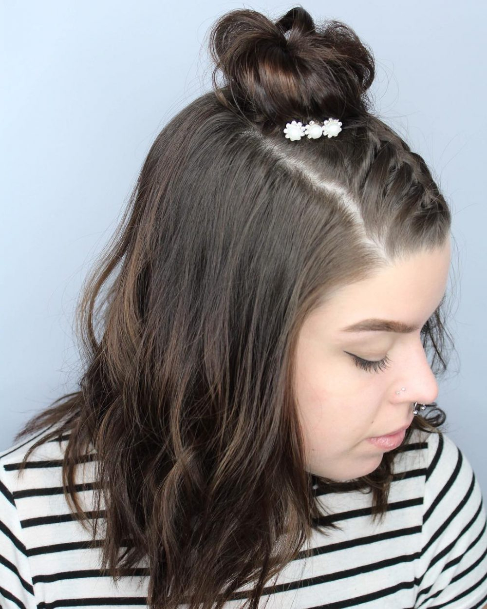 37 Cute French Braid Hairstyles For 2019 Within Popular Topknot Ponytail Braided Hairstyles (View 13 of 20)