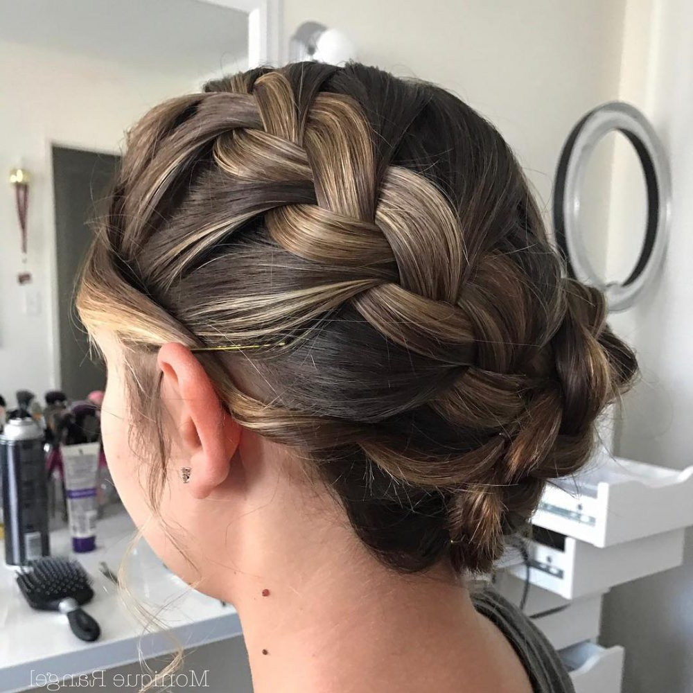 37 Inspiring Prom Updos For Long Hair For 2019 #inspo In Well Known Extra Thick Braided Bun Hairstyles (Gallery 9 of 20)