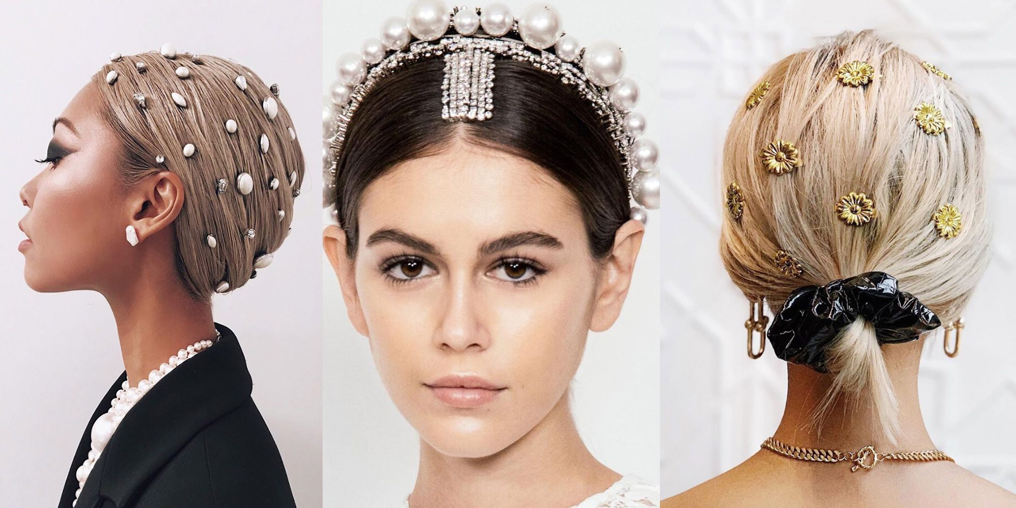 37 Short Wedding Hairstyles – Bridal Updos, Braids, And Inside Most Popular Double Headband Braided Hairstyles With Flowers (Gallery 15 of 20)