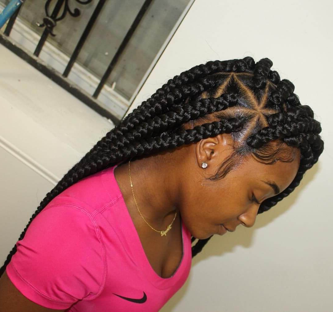 Featured Photo of Angled Cornrows Hairstyles With Braided Parts