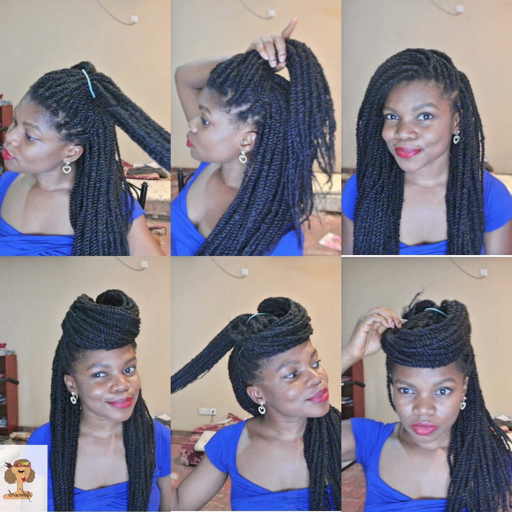4 Stylish Ways To Wear Your Braids Or Twists (Protective For 2019 Braided And Wrapped Hairstyles (View 12 of 20)