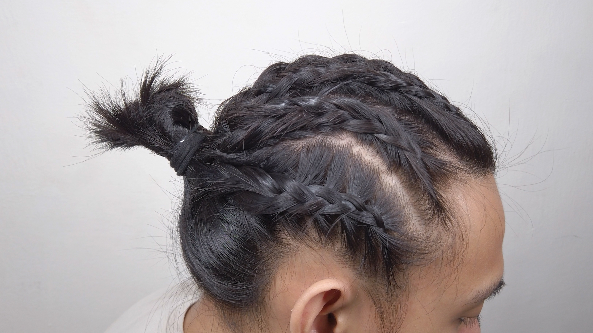 4 Ways To Braid Short Hair For Men – Wikihow Intended For Favorite Cornrows Tight Bun Under Braid Hairstyles (View 7 of 20)
