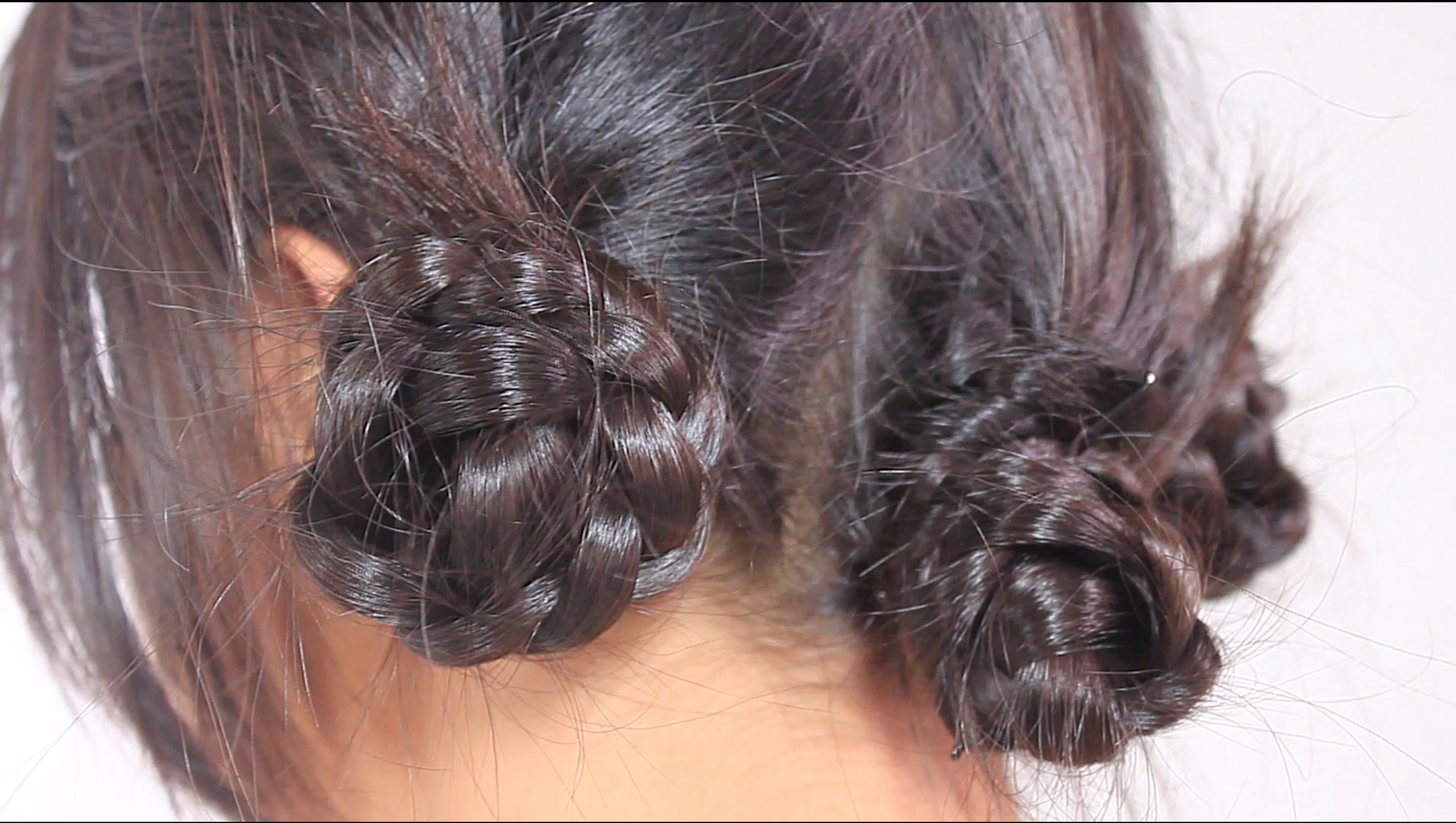 4 Ways To Make A Braided Bun – Wikihow For Popular Braids And Buns Hairstyles (View 15 of 20)