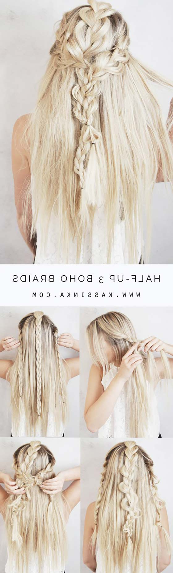 40 Braided Hairstyles For Long Hair In Most Up To Date Boho Half Braid Hairstyles (View 15 of 20)
