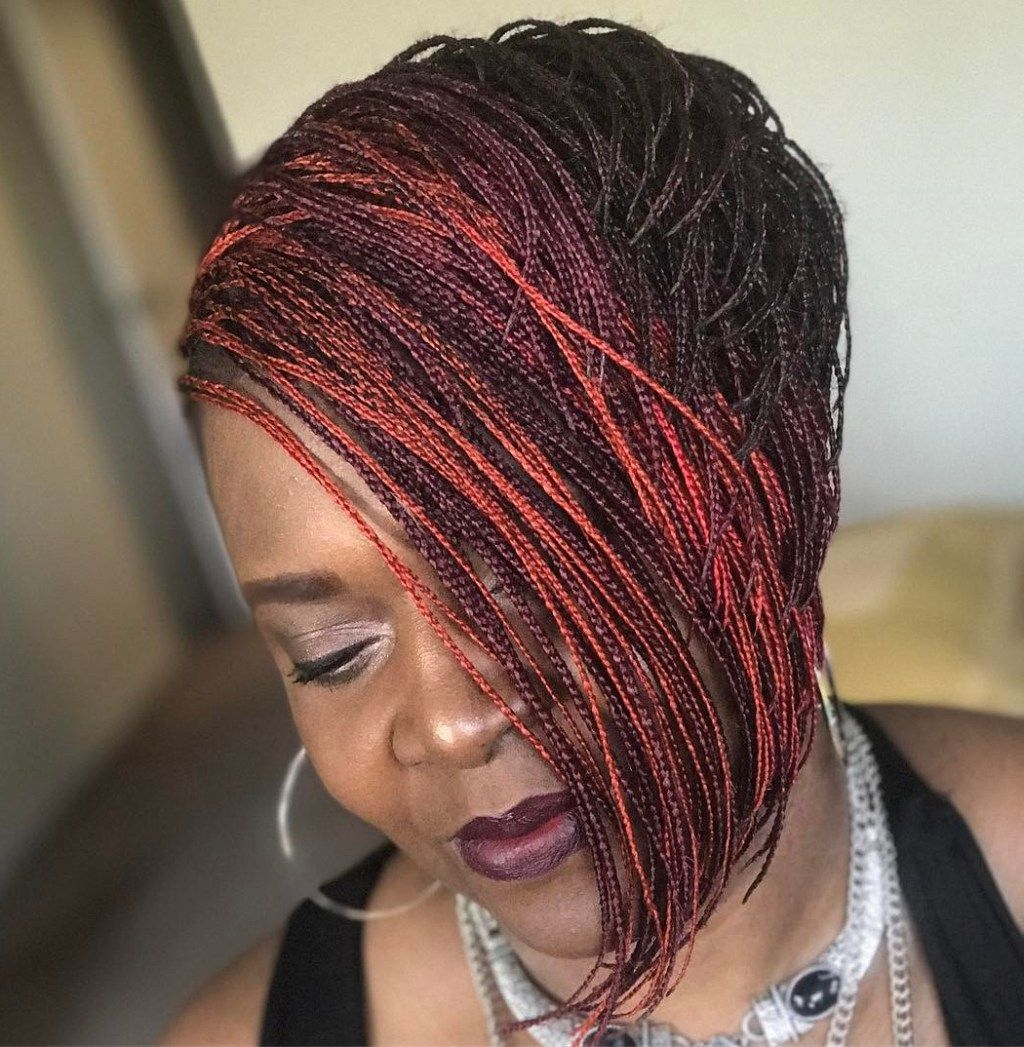 Featured Photo of Short Stacked Bob Micro Braids