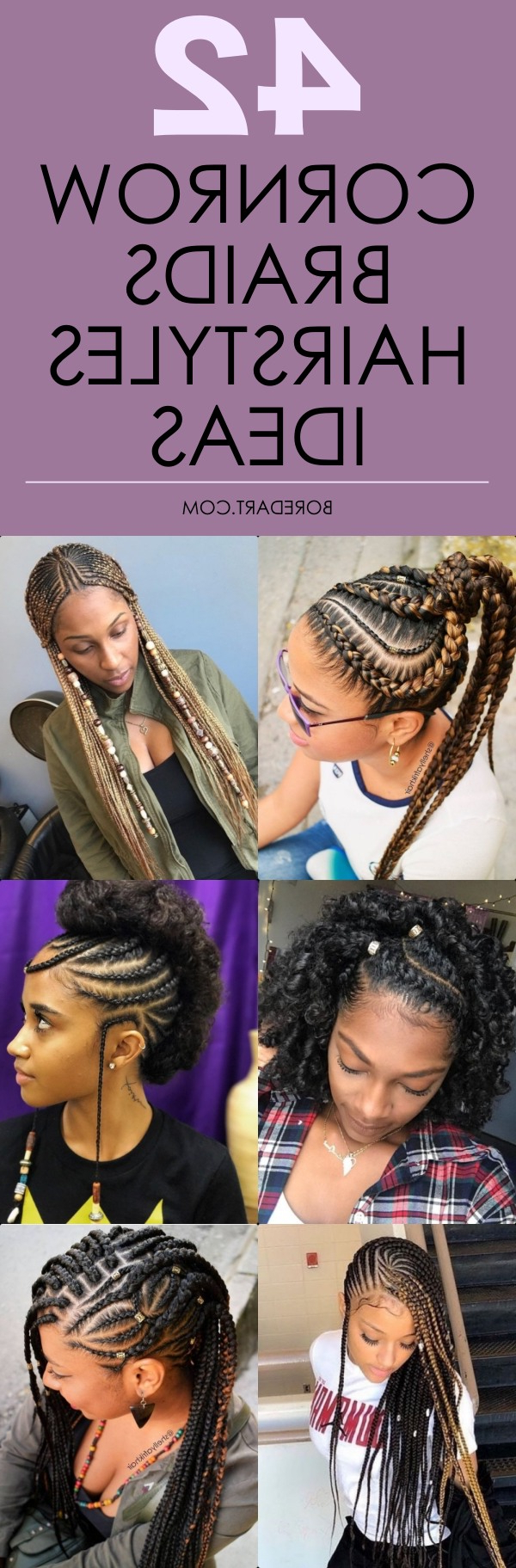 42 Catchy Cornrow Braids Hairstyles Ideas To Try In 2019 With Regard To 2020 Cornrow Fishtail Side Braided Hairstyles (View 3 of 20)
