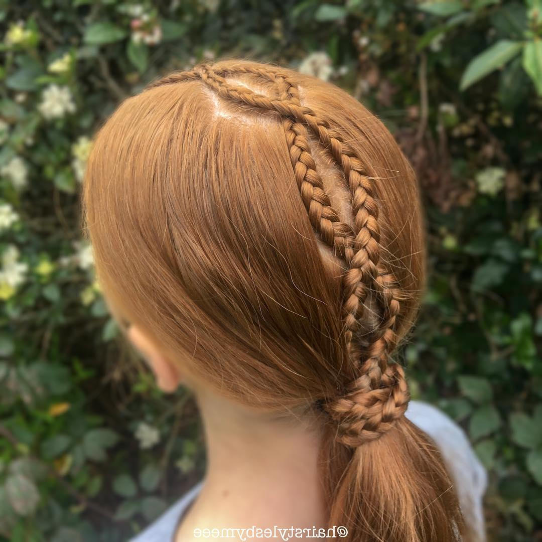 45+ Perfect Hairstyles For Girls To Keep Up With The Latest Inside Preferred Funky Sock Bun Micro Braid Hairstyles (View 16 of 20)