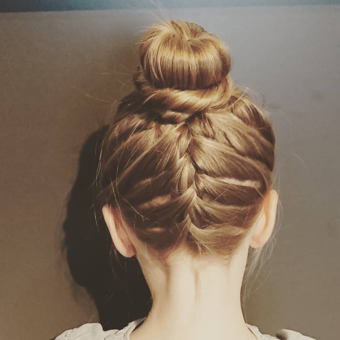 45+ Perfect Hairstyles For Girls To Keep Up With The Latest Inside Recent Funky Sock Bun Micro Braid Hairstyles (View 12 of 20)