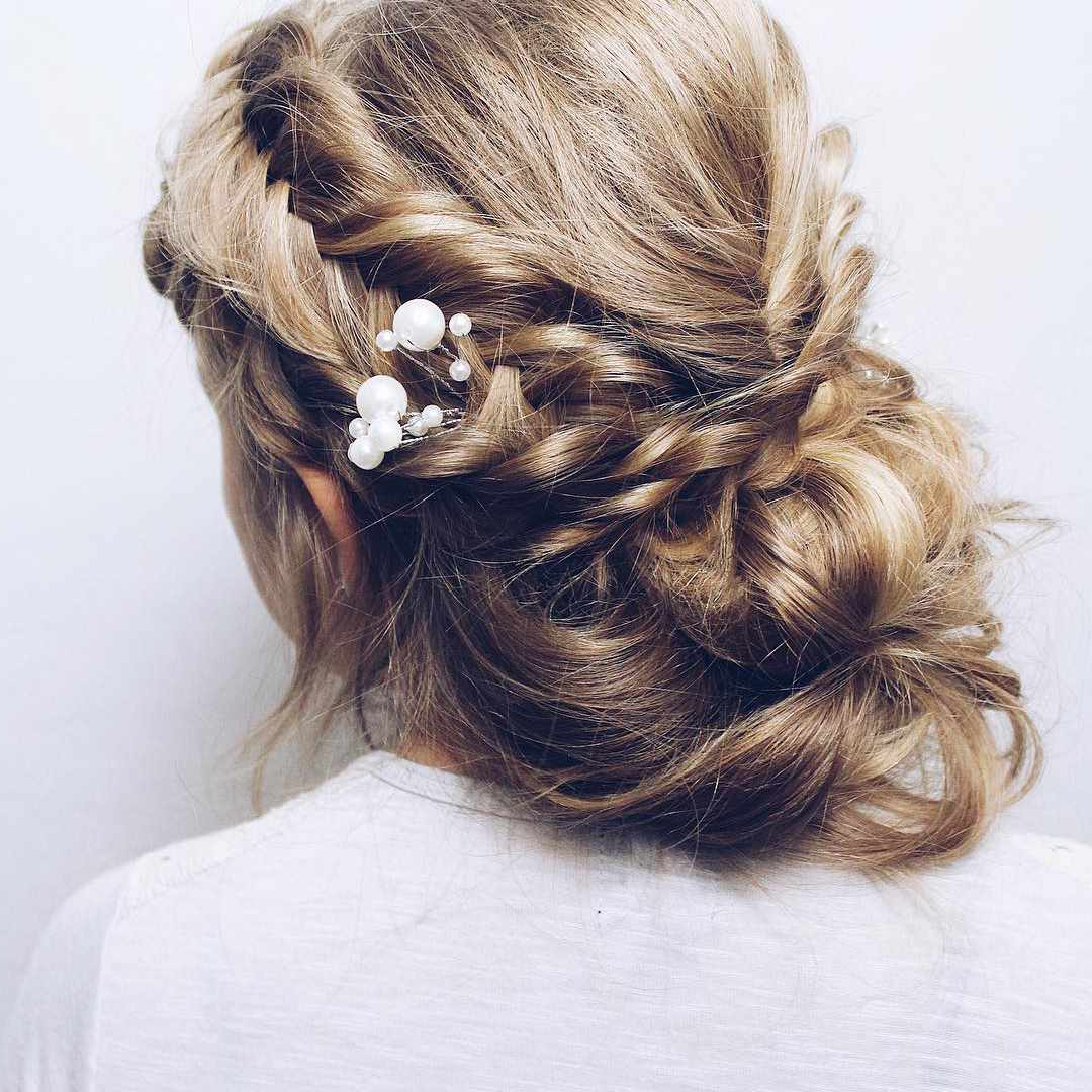 50 Braided Wedding Hairstyles We Love Inside 2020 Chunky French Braid Chignon Hairstyles (View 17 of 20)
