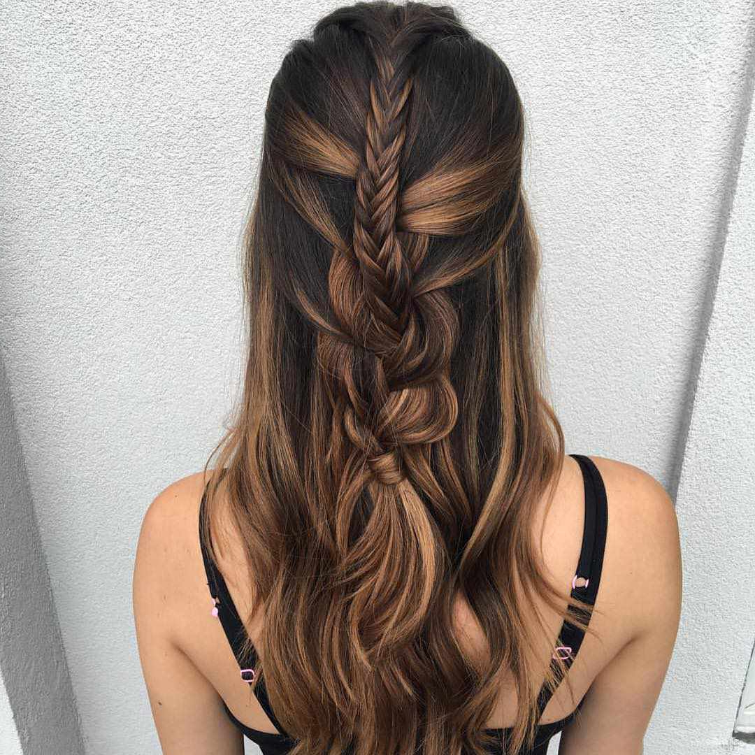 50 Braided Wedding Hairstyles We Love Regarding Preferred Oversized Fishtail Braided Hairstyles (View 16 of 20)