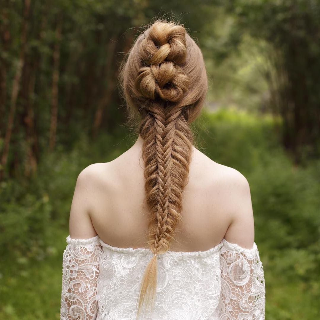 50 Braided Wedding Hairstyles We Love Within Newest Oversized Fishtail Braided Hairstyles (View 13 of 20)
