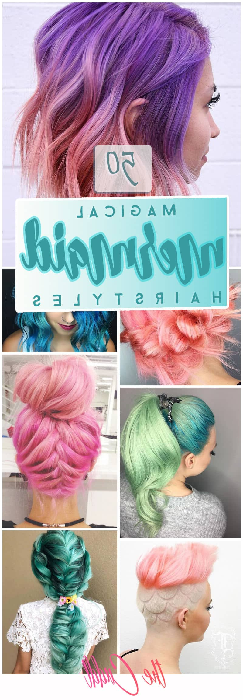 50 Magical Ways To Style Mermaid Hair For Every Hair Type Throughout Recent Cotton Candy Colors Blend Mermaid Braid Hairstyles (View 4 of 20)