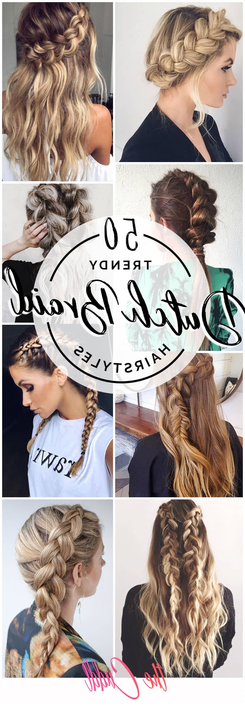 50 Trendy Dutch Braids Hairstyle Ideas To Keep You Cool In 2019 Inside Popular Centre Parted Long Plaits Braid Hairstyles (Gallery 20 of 20)
