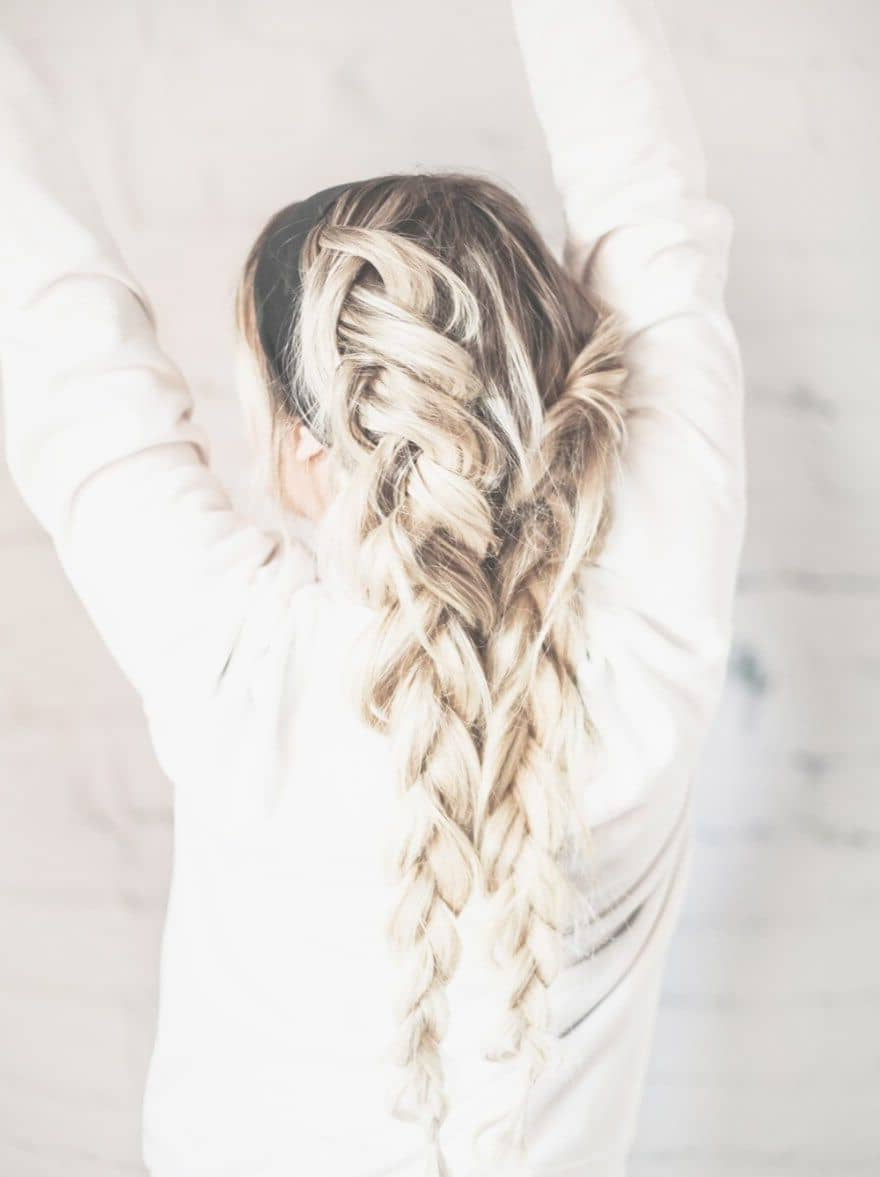 50 Trendy Dutch Braids Hairstyle Ideas To Keep You Cool In 2019 Pertaining To Famous Blonde Asymmetrical Pigtails Braid Hairstyles (Gallery 19 of 20)