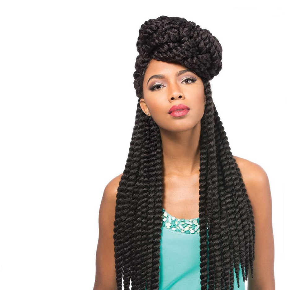 55 Dazzling Senegalese Twist Styles — Best For Natural Hair Pertaining To Recent Dramatic Rope Twisted Braid Hairstyles (Gallery 11 of 20)