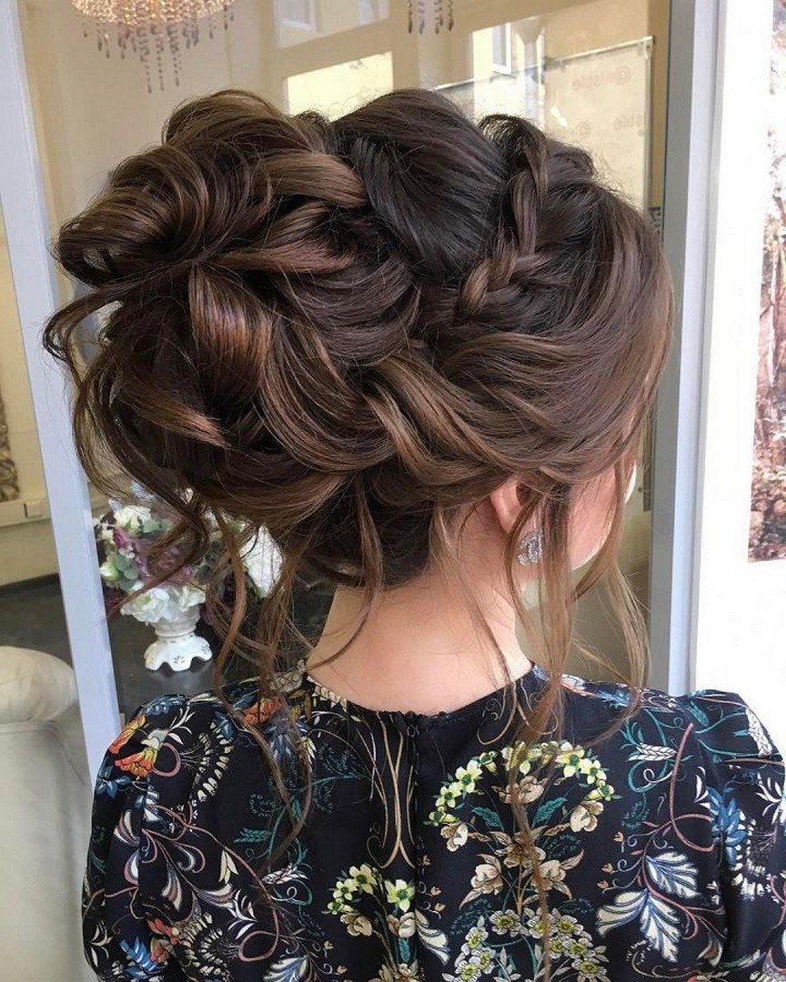 56 Wedding Hairstyles Romantic Bridal Updos – Diymeg Regarding Most Current Romantic Florals Updo Hairstyles (Gallery 16 of 20)