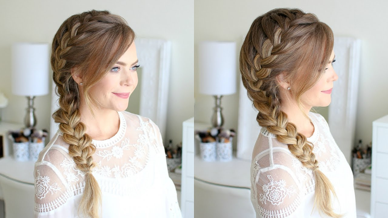 6 Side Braid Tutorials For Beginners – How To Do A Side Braid In Newest Side Parted Braid Hairstyles (View 6 of 20)