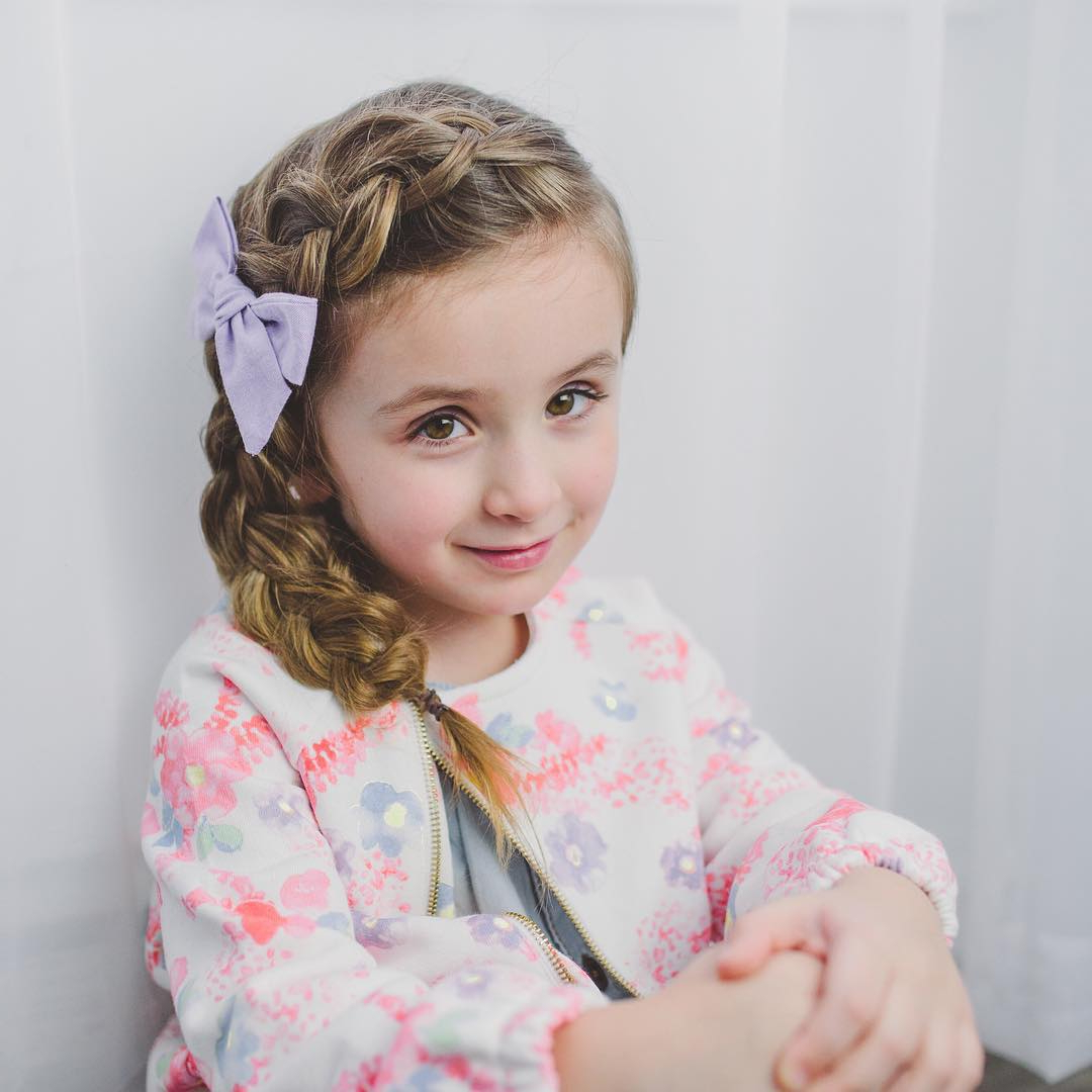 60 Lovely Hairstyles With Braids For Kids – All Braiding Styles Throughout Favorite Side Swept Carousel Braided Hairstyles (View 2 of 20)