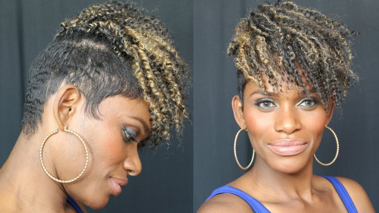 $7 Crochet Kinky Curly ✰ Tapered Hairstyle ✰ Everything Explained! Intended For Well Liked Tree Micro Braids With Side Undercut (Gallery 8 of 20)