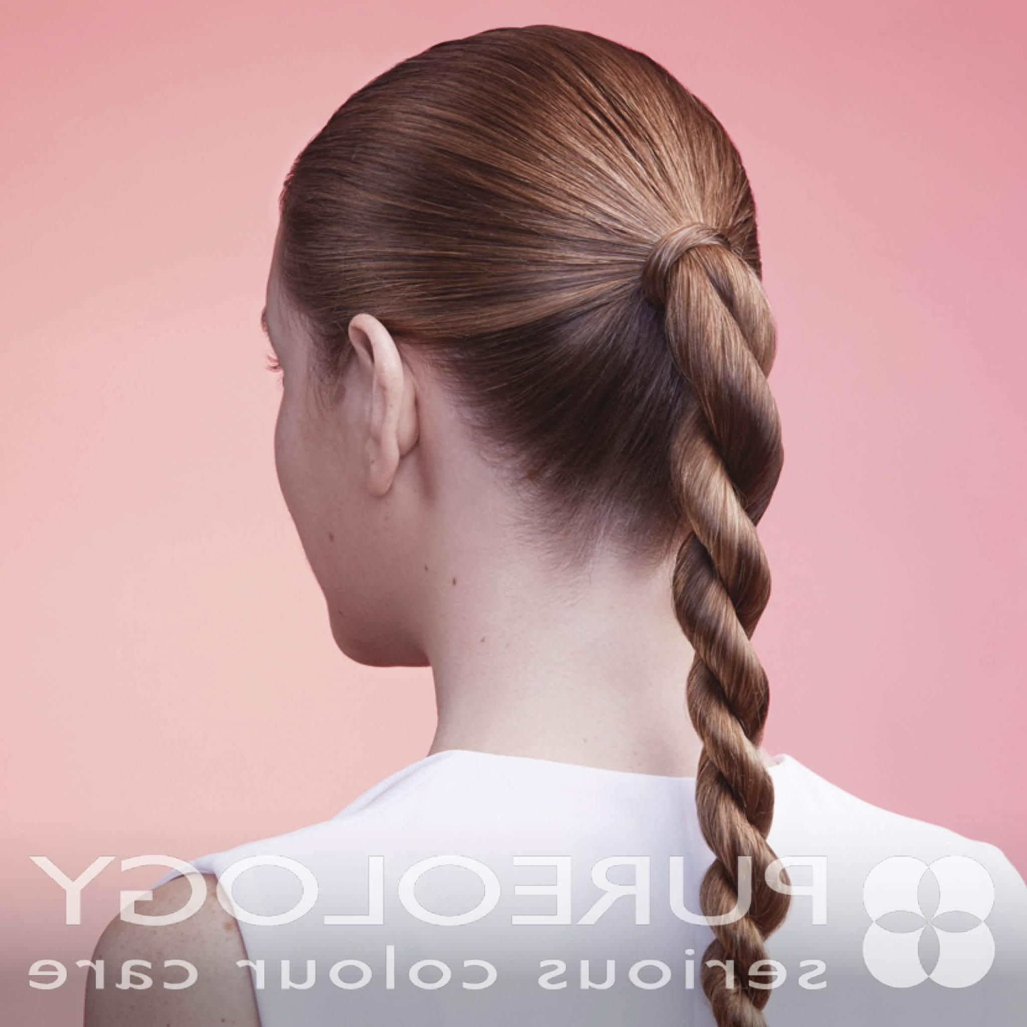 7 Gym Hairstyles That Are Actually Cute & Easy To Do – Pureology With Regard To 2020 Intricate Rope Braid Ponytail Hairstyles (Gallery 9 of 20)