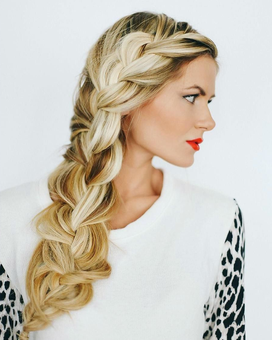 70 Beautifull French Braid Hairstyles — Elegance As It Is With Regard To Most Recent Elegant Blonde Mermaid Braid Hairstyles (View 4 of 20)