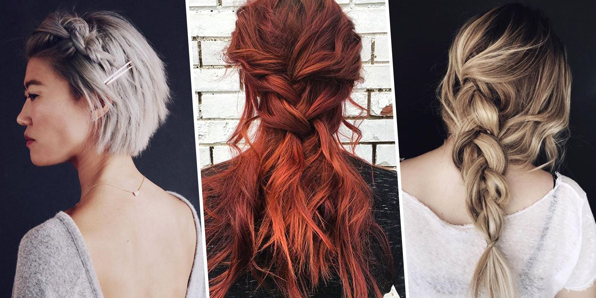 8 Messy, Easy Braid Ideas To Copy – Best Braided Hairstyles Regarding Fashionable Messy Crown Braided Hairstyles (View 6 of 20)