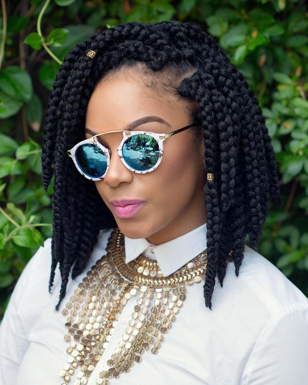 80 Trendy African Braids Hairstyles – Embrace The Braiding Art Within 2019 Multicolored Bob Braid Hairstyles (View 19 of 20)