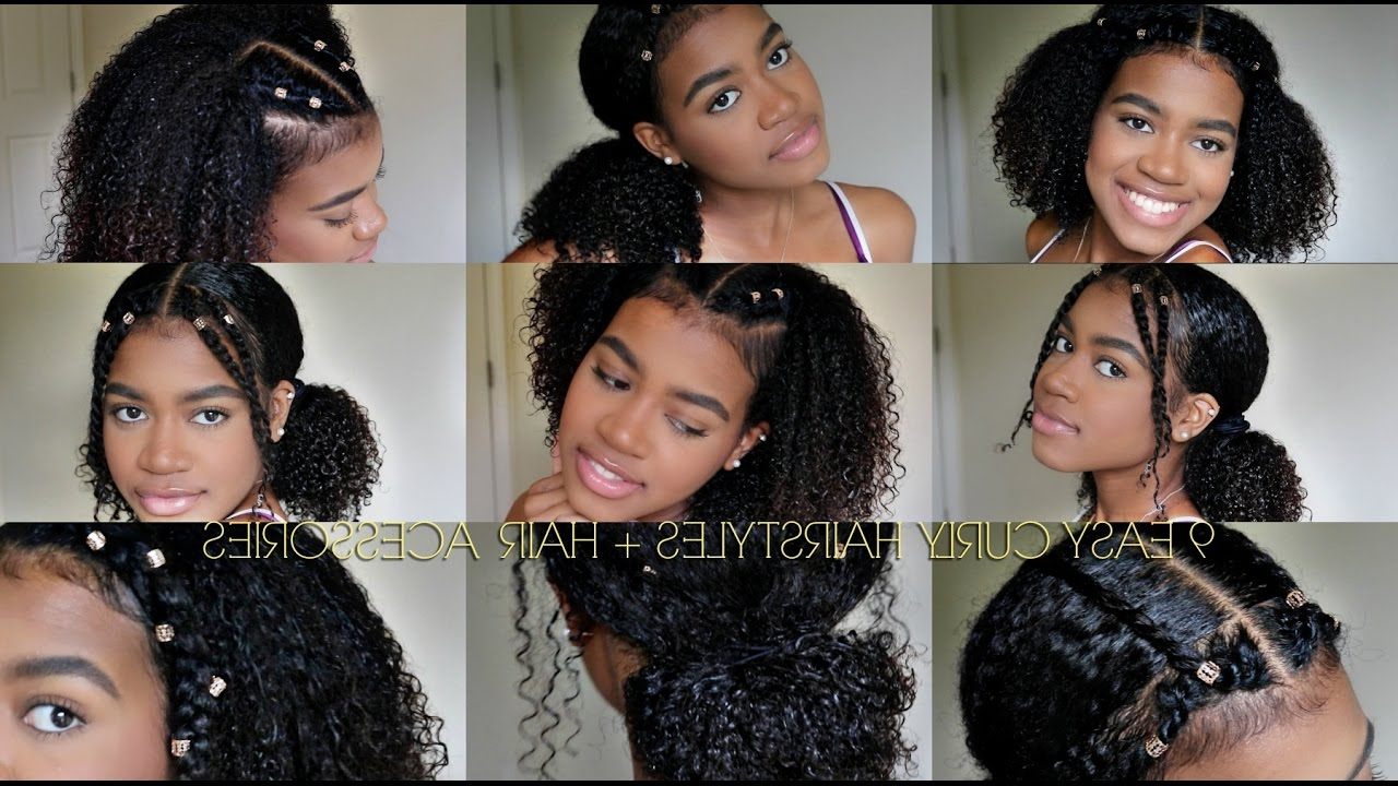 9 Easy Curly Hairstyles (natural Hair) + Hair Cuffs For 2019 Naturally Curly Braided Hairstyles (View 10 of 20)