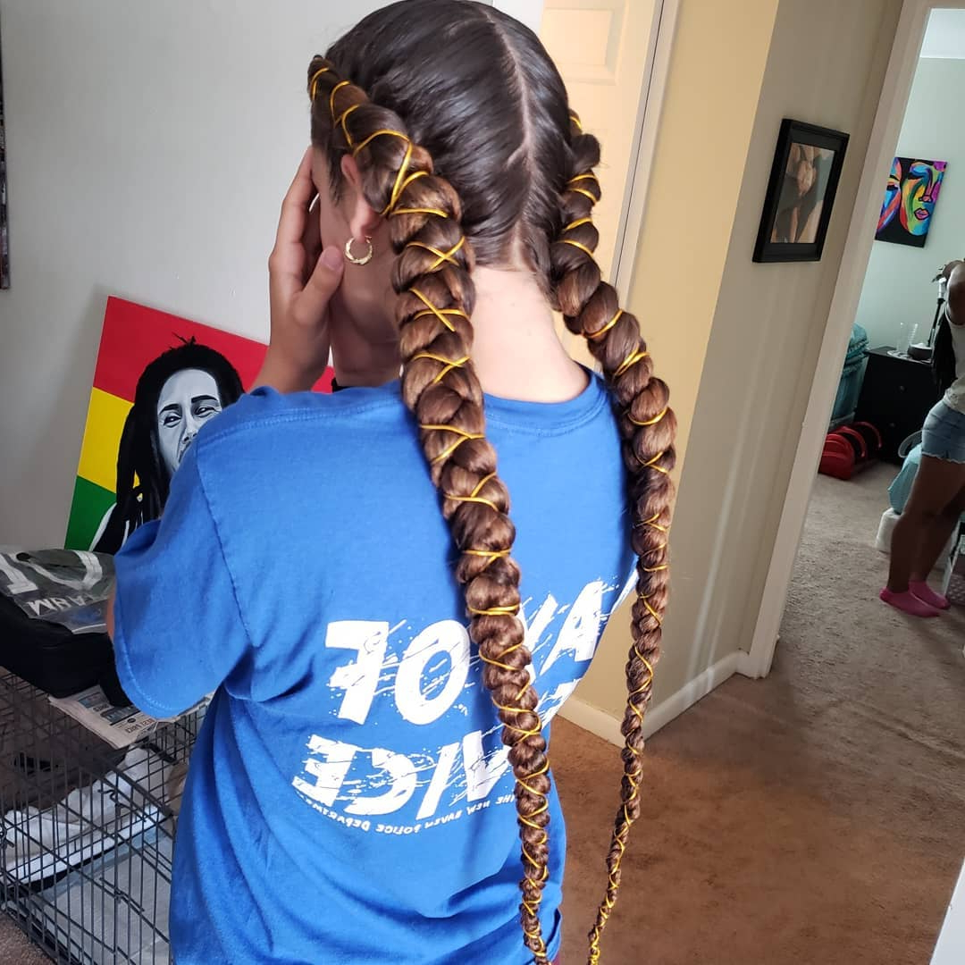99 Two Braids And You've Got It Made Regarding 2020 Braided Hairstyles With Beads And Wraps (View 12 of 20)