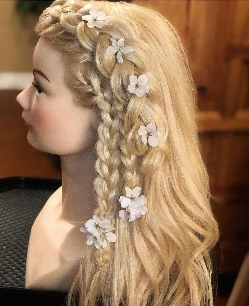A Boho Ponytail Is A Messy Style That Has A Crowning Braid For Latest Crowned Braid Crown Hairstyles (View 10 of 20)