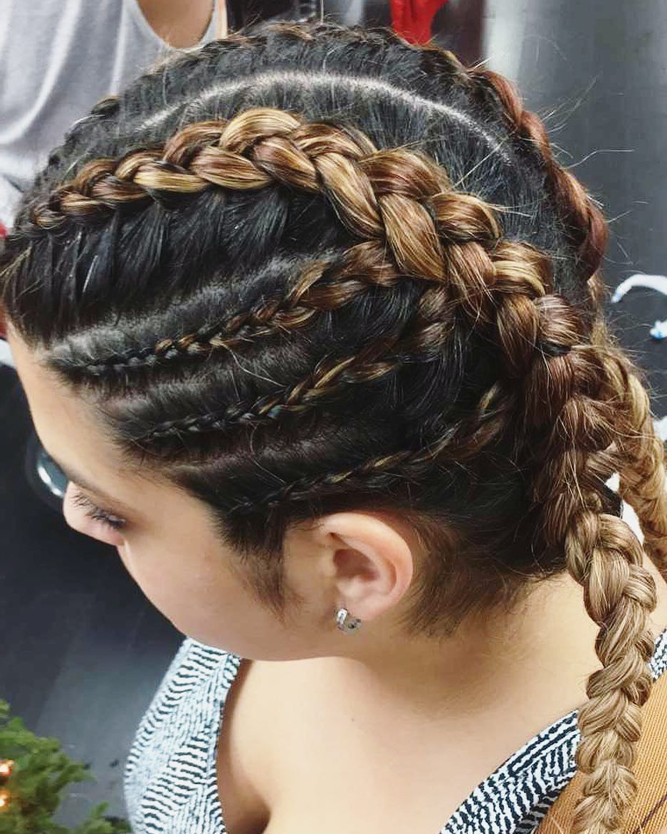 A Dutch Braid Is A Well Liked Hairstyle That Consists Of For 2020 Long Hairstyles With Multiple Braids (View 3 of 20)