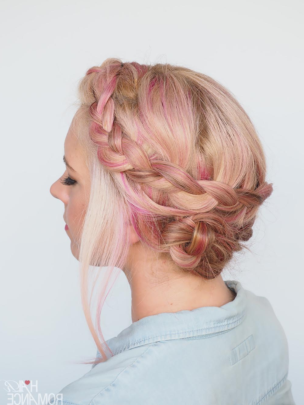 A New Way To Wear A Crown Braid (2 Hairstyle Tutorials In 1 With Newest Messy Crown Braided Hairstyles (View 7 of 20)