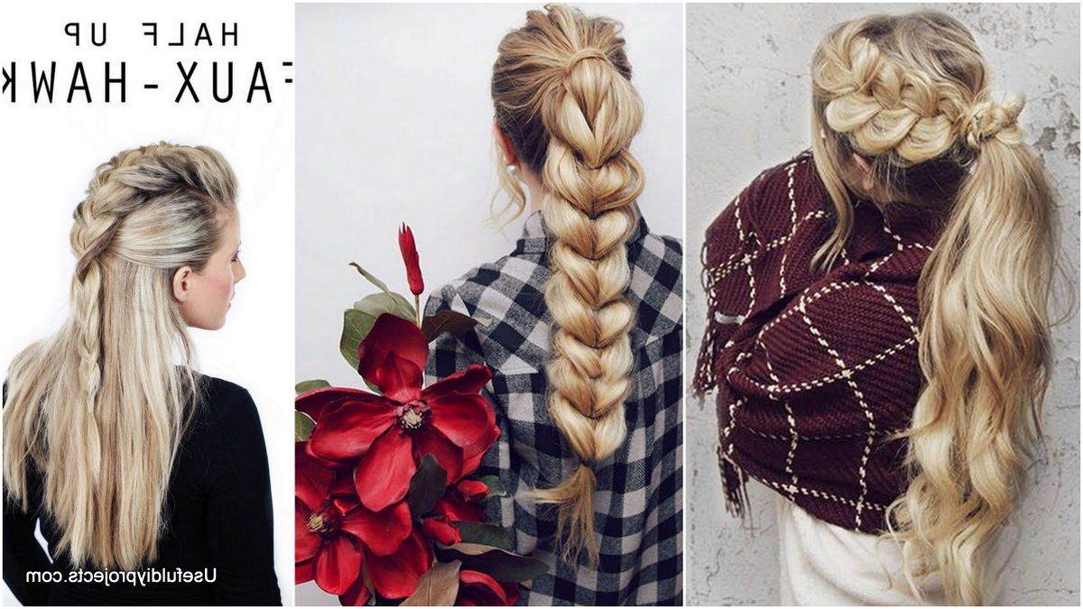 A Whole Month Of New Braided Hairstyles With These 33 Easy Inside Popular Three Strand Pigtails Braided Hairstyles (View 3 of 20)