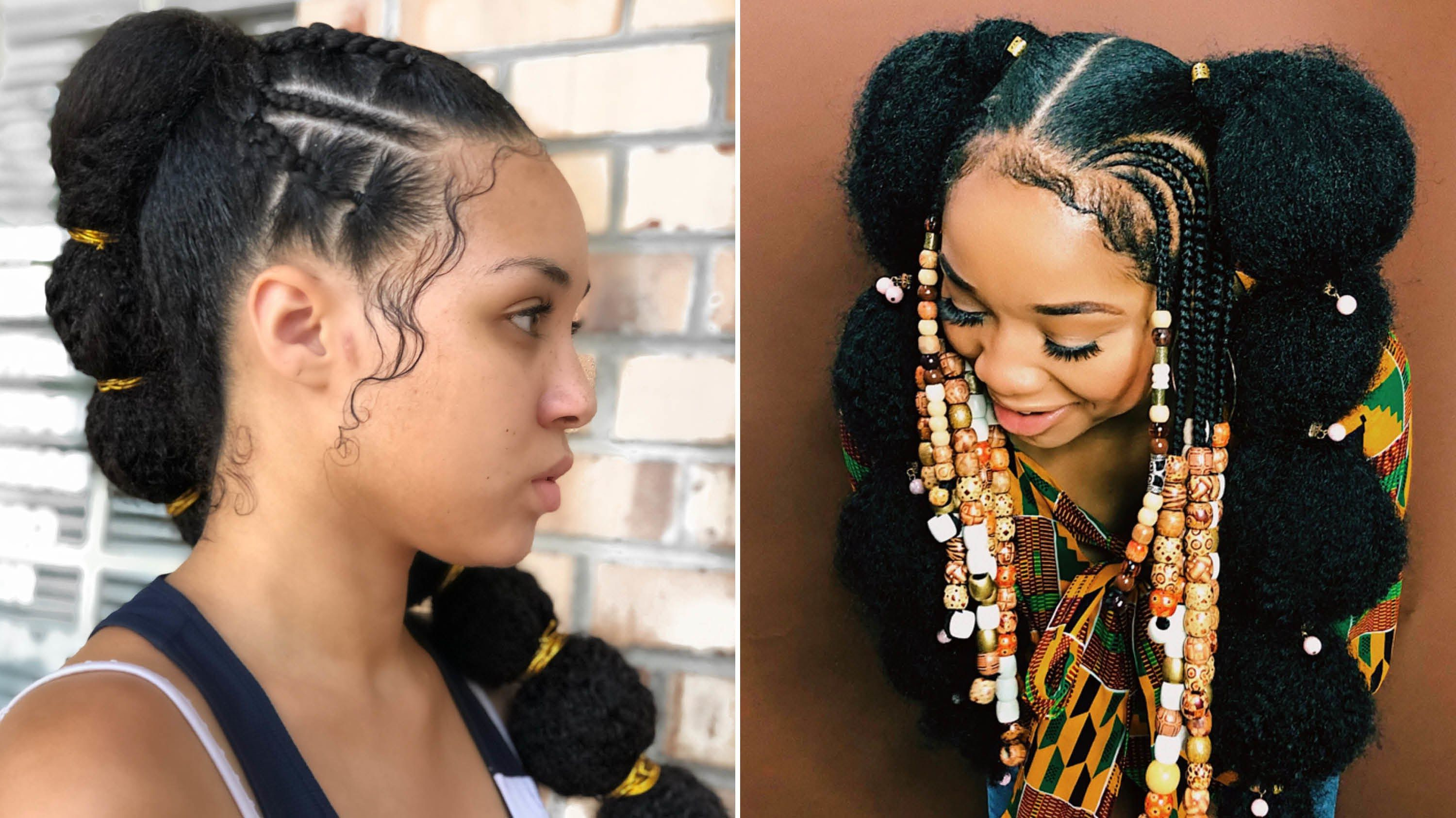 Afro Puff Bubble Ponytails Are Trending On Instagram Inside Trendy Natural Bubble Ponytail Updo Hairstyles (View 10 of 20)