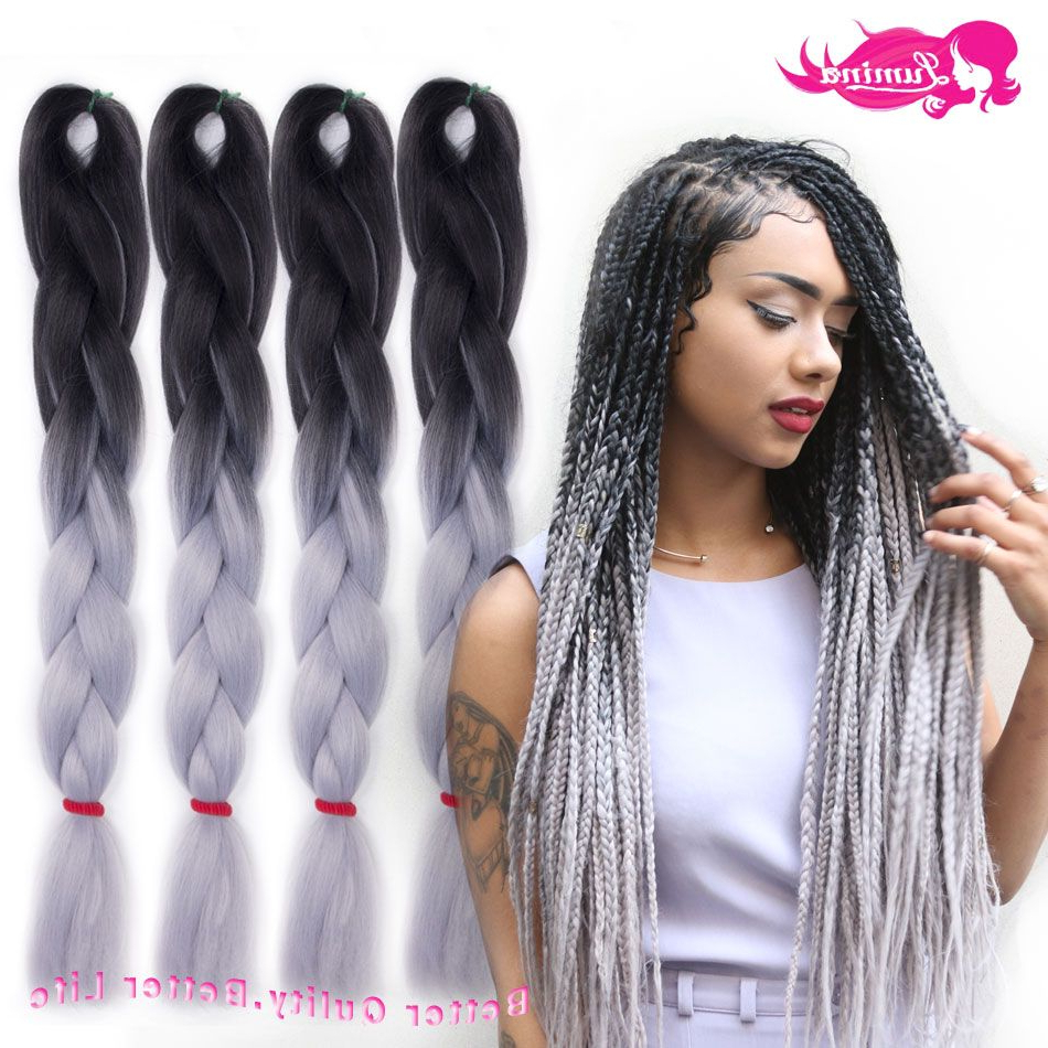 Aliexpress : Buy Ombre Kanekalon Braiding Hair Xpression Within Well Known Two Ombre Under Braid Hairstyles (Gallery 2 of 20)