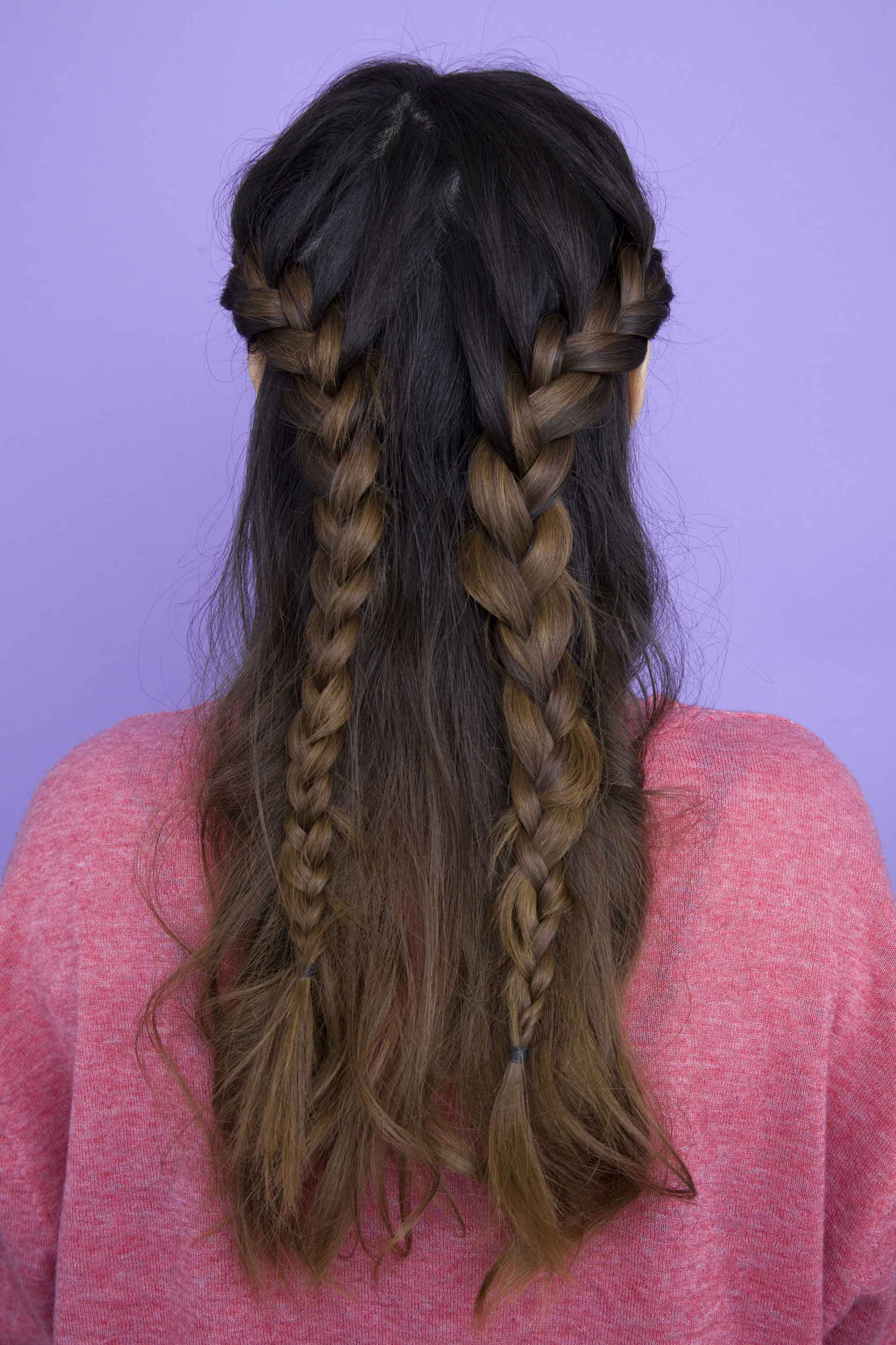 All Throughout Favorite Half Up, Half Down Braid Hairstyles (Gallery 15 of 20)