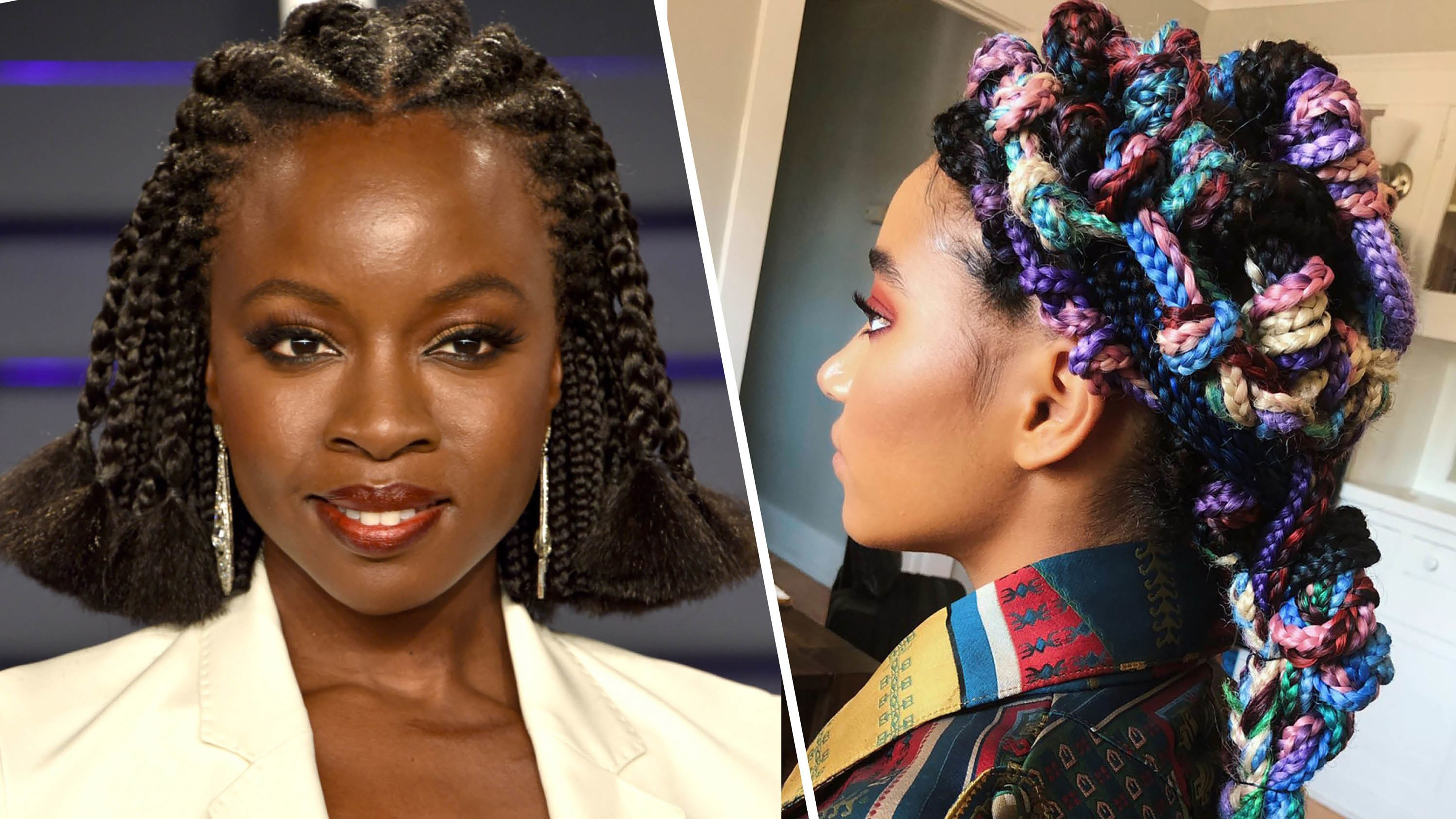 Allure Regarding Best And Newest Skinny Braid Hairstyles With Purple Ends (View 12 of 20)