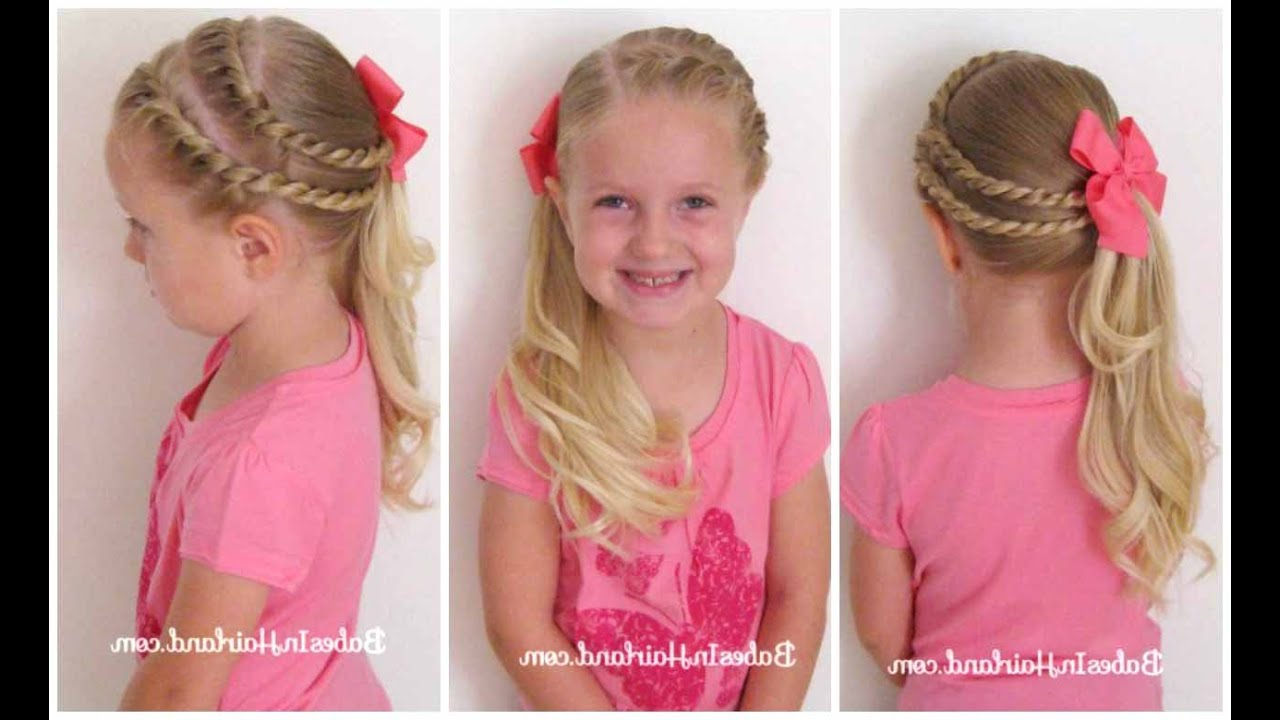 Babesinhairland For Popular Pink Rope Braided Hairstyles (View 4 of 20)