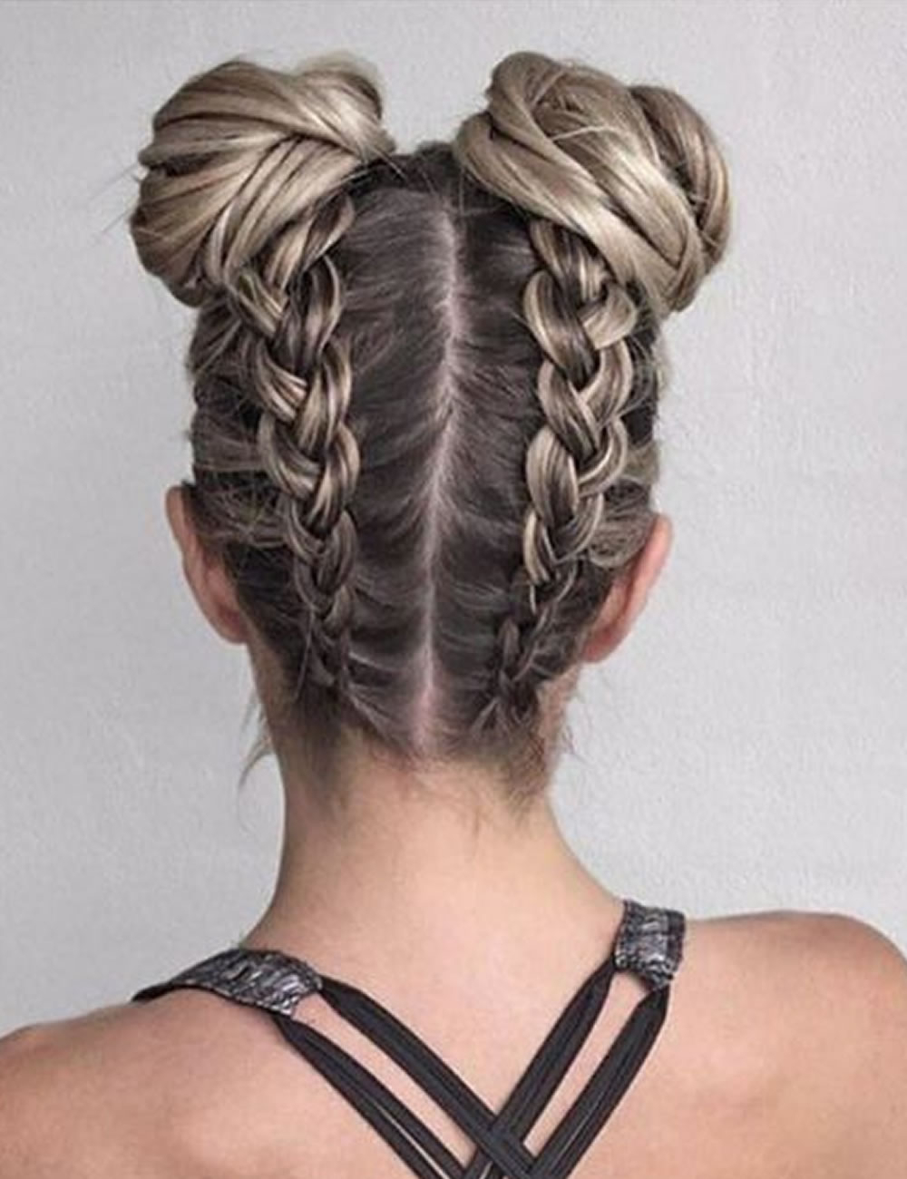 Back To School Hairstyles Archives – Tspa Winnipeg Beauty School With Regard To Widely Used Braided Space Buns Updo Hairstyles (View 2 of 20)