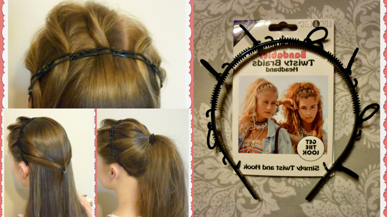 Bandables Twisty Braids Headband Review And Tutorial Regarding Famous Braid Hairstyles With Headband (View 2 of 20)