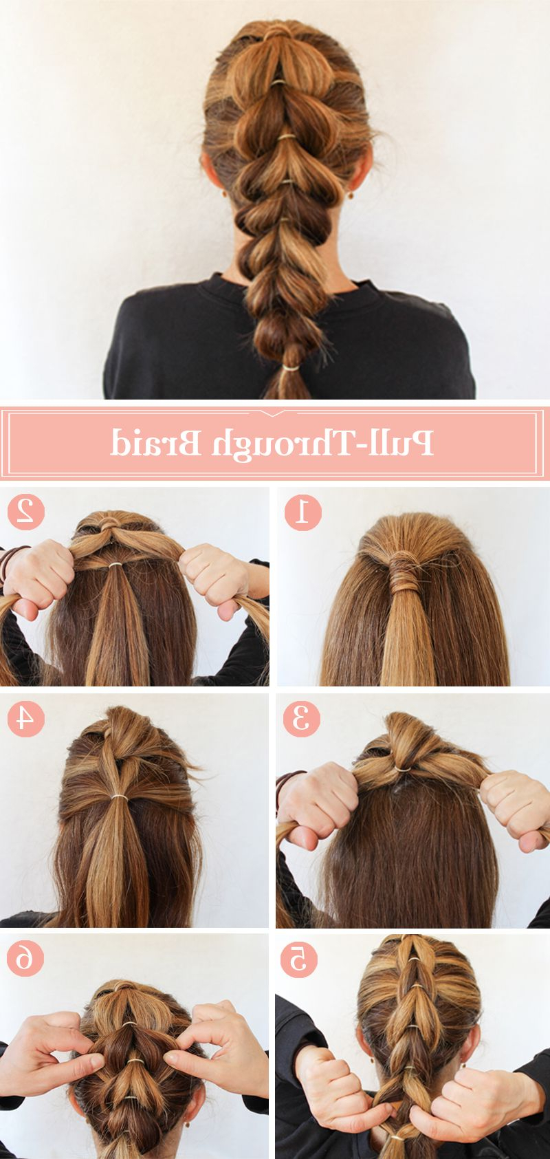 Beauty Tutorials Pertaining To Famous Pull Through Ponytail Updo Hairstyles (Gallery 4 of 20)