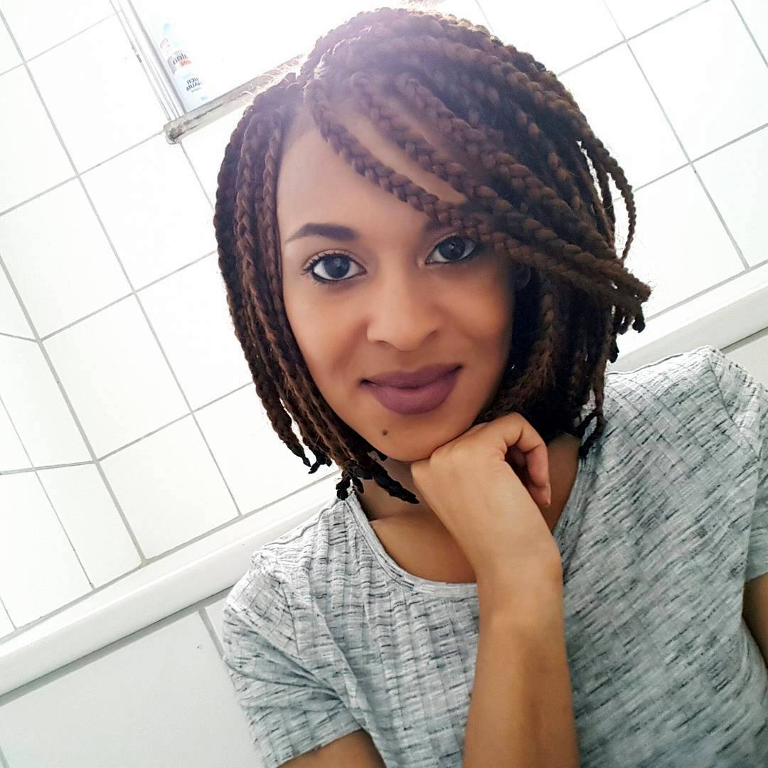 Best And Newest Asymmetrical Bob Braid Hairstyles Pertaining To 25 Best Short Box Braids Ideas – Protecting Your Hair (2019) (View 17 of 20)