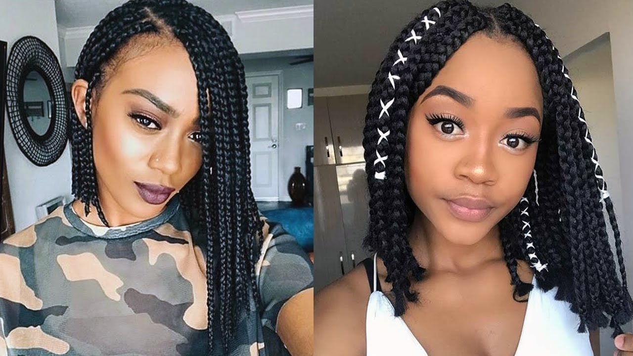 Best And Newest Bob Braid Hairstyles With A Bun Inside Hairstyles : Gorgeous Fulani Braids Hairstyle For Ponytail (View 20 of 20)
