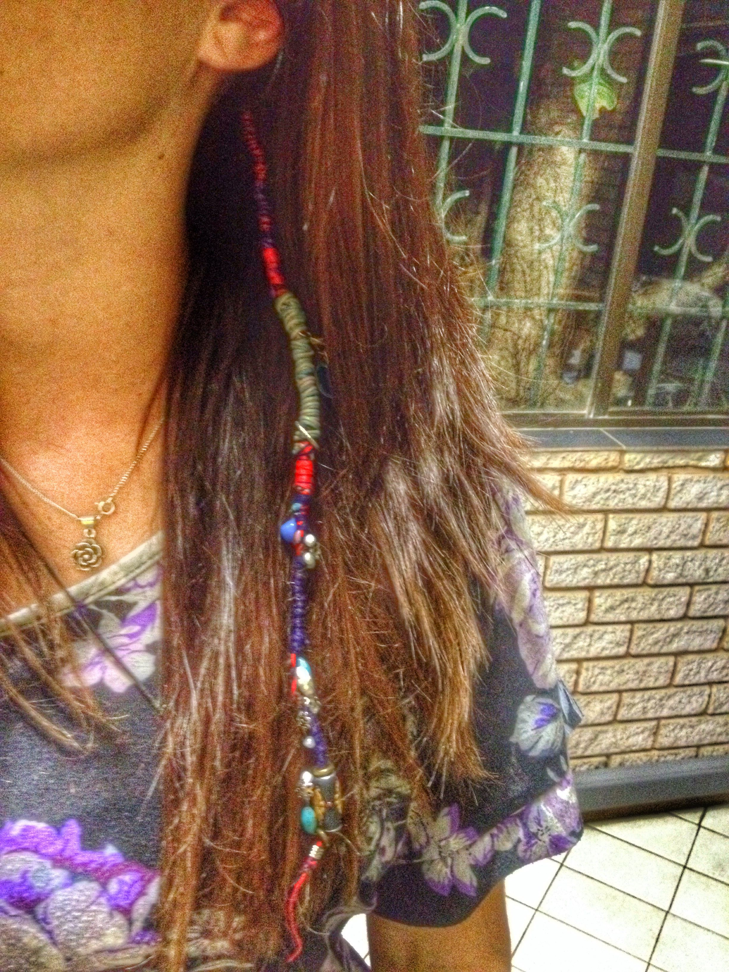 Best And Newest Braided Hairstyles With Beads And Wraps Regarding Hair Wrap, Thread, Diy Hair Wrap, Beads, Hippy, Boho, Hair (View 3 of 20)