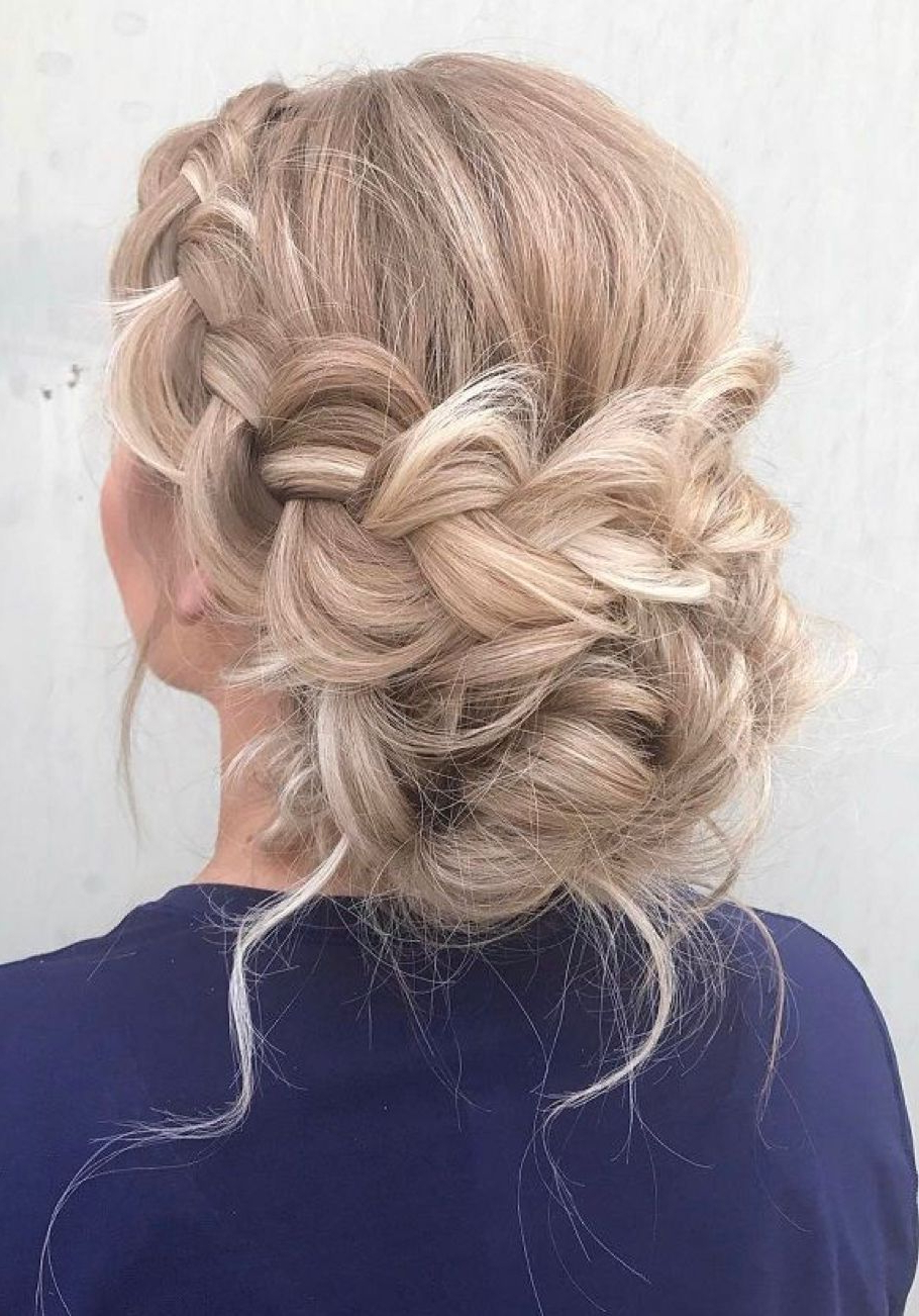 Best And Newest Fancy Braided Hairstyles Throughout Single Big Braid Low Bun (View 15 of 20)