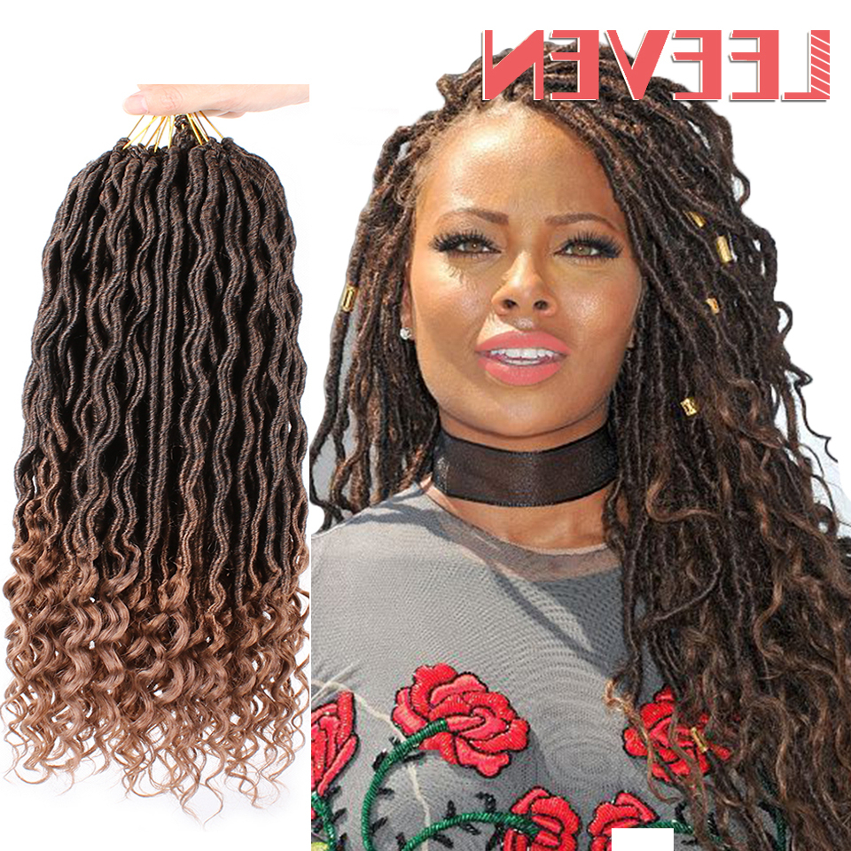 [%Best And Newest Goddess Braided Hairstyles With Beads With Us $3.06 48% Off|Leeven 18'' Goddess Faux Locs Crochet Hair Extensions  Synthetic Crochet Braids Dread Locs Curly Hair Braiding Hair In Curly  Dreadlocs|Us $ (View 1 of 20)