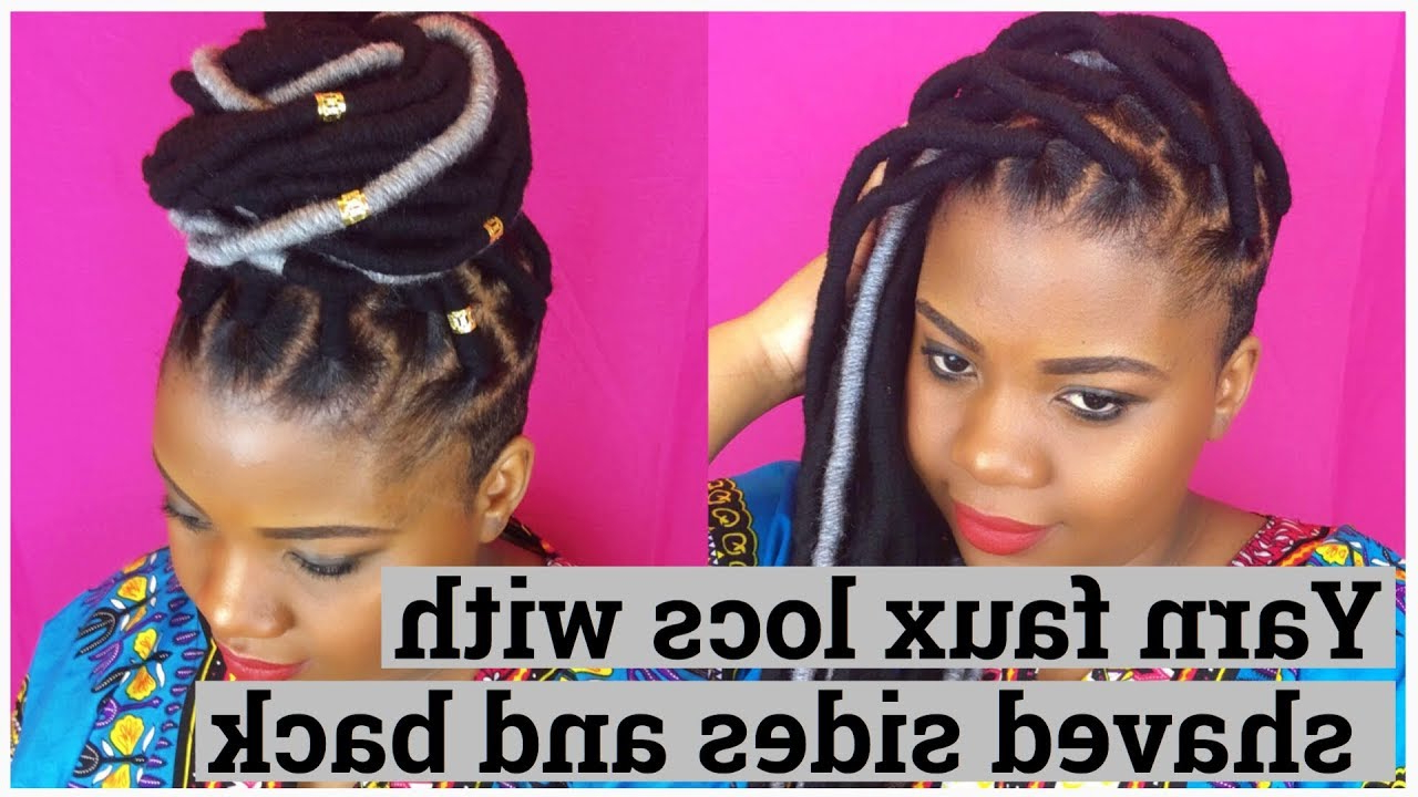 Best And Newest Half Up Buns Yarn Braid Hairstyles Inside Yarn Faux Locs With Shaved Sides And Back (View 13 of 20)