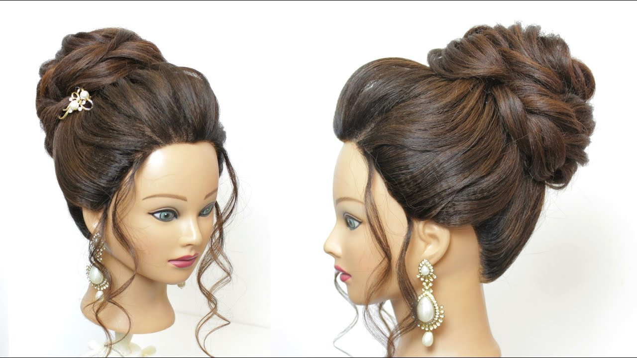 Best And Newest High Volume Donut Bun Updo Hairstyles Pertaining To New Bridal Hairstyle For Long Hair (View 5 of 20)