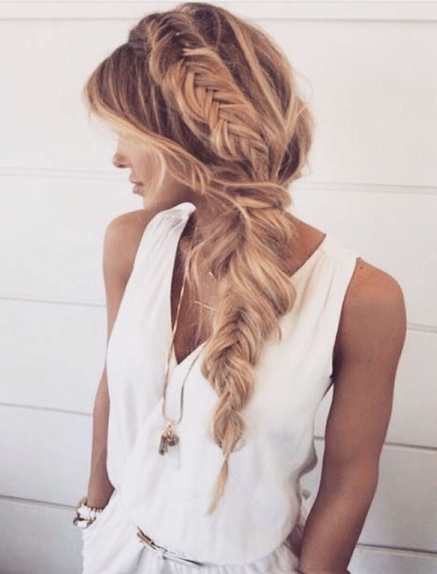 Best And Newest Messy Side Fishtail Braided Hairstyles Throughout How To Add Hair Volume, For Thin Hair Making Ideal Messy (View 5 of 20)