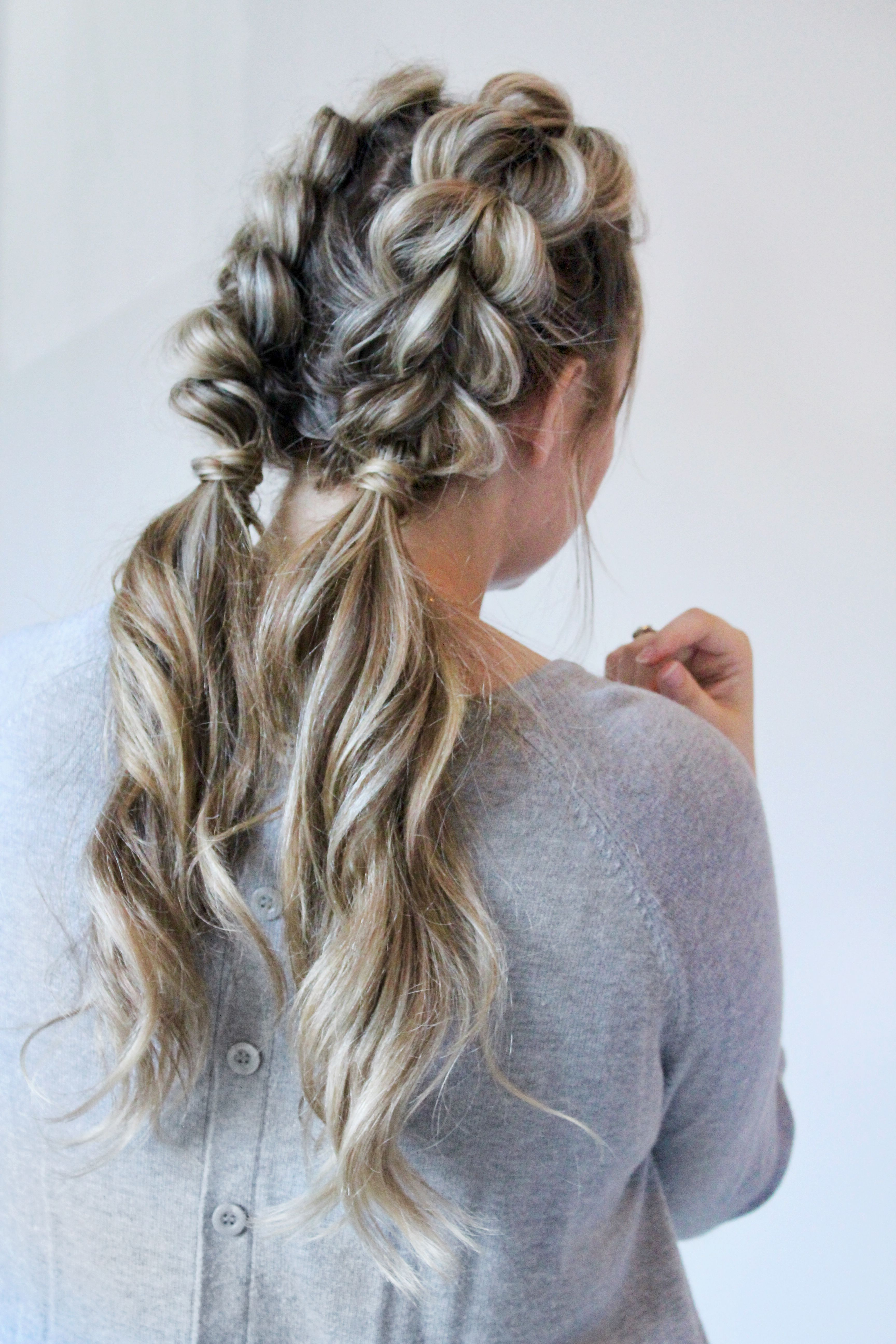 Best And Newest Pull Through Ponytail Updo Hairstyles Throughout Jumbo Pull Through Braid Pigtails Tutorial (View 8 of 20)